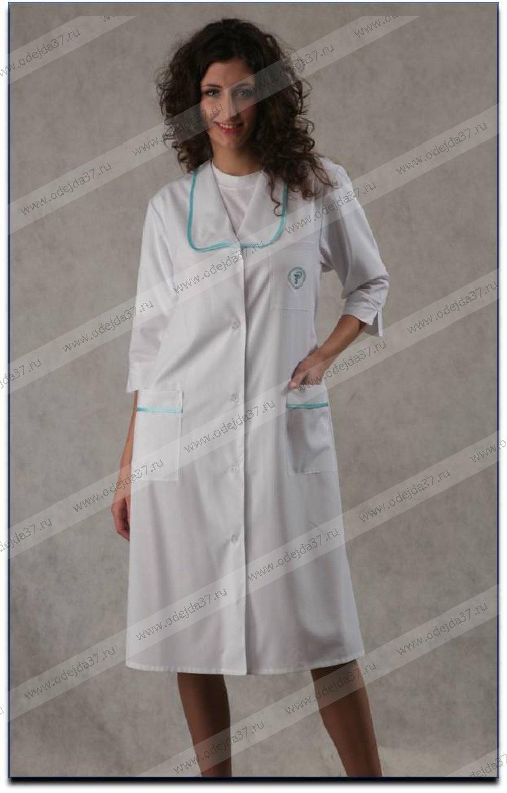Увеличить - Халат  медицинский женский №163