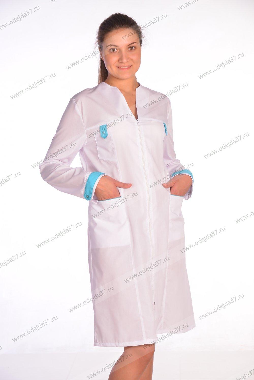 Увеличить - Халат  медицинский женский №166