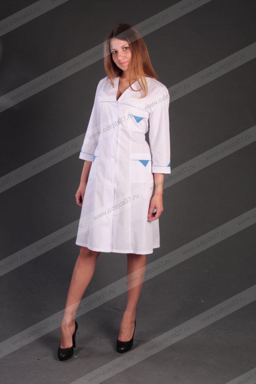 Увеличить - Халат медицинский женский №172
