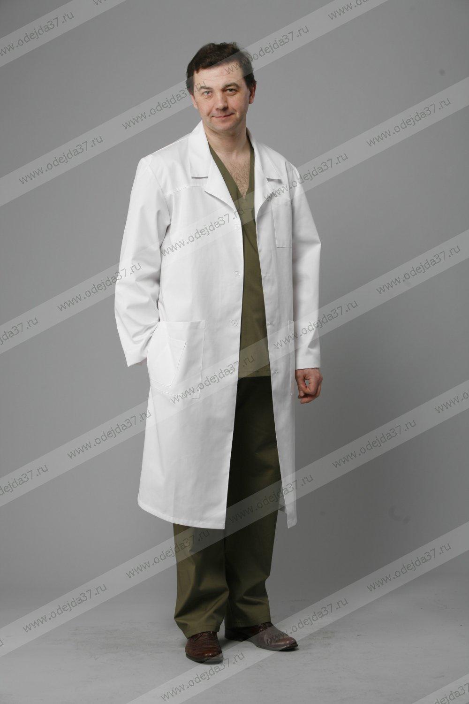 Увеличить - Халат  медицинский мужской