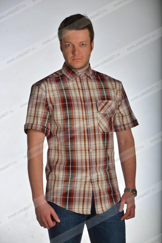 Увеличить - Рубашка мужская (шотландка)