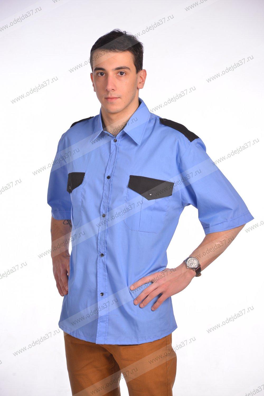 Увеличить - Рубашка мужская Охранник с коротким рукавом