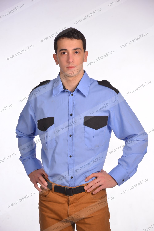 Увеличить - Рубашка мужская Охранник с длинным рукавом №232