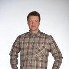 Рубашка мужская  с дл. рукавом (шотландка)